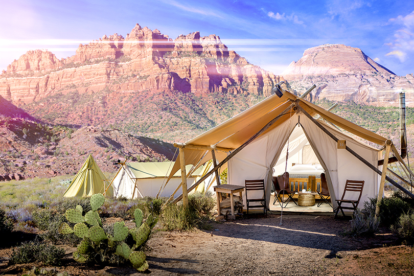 Outdoor experiences with private accommodation in the US