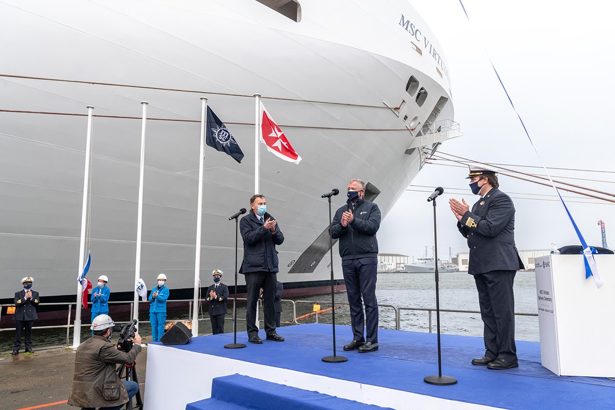 MSC Virtuosa is handed over in France