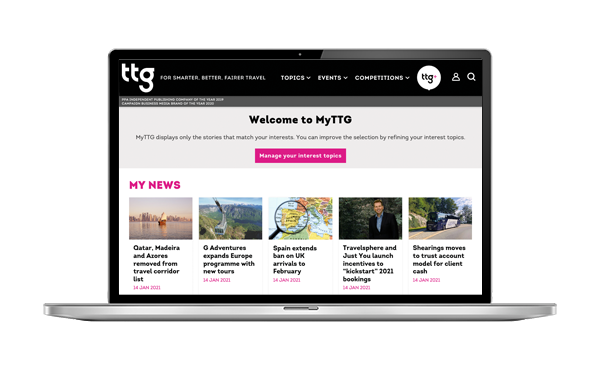MyTTG personalised content