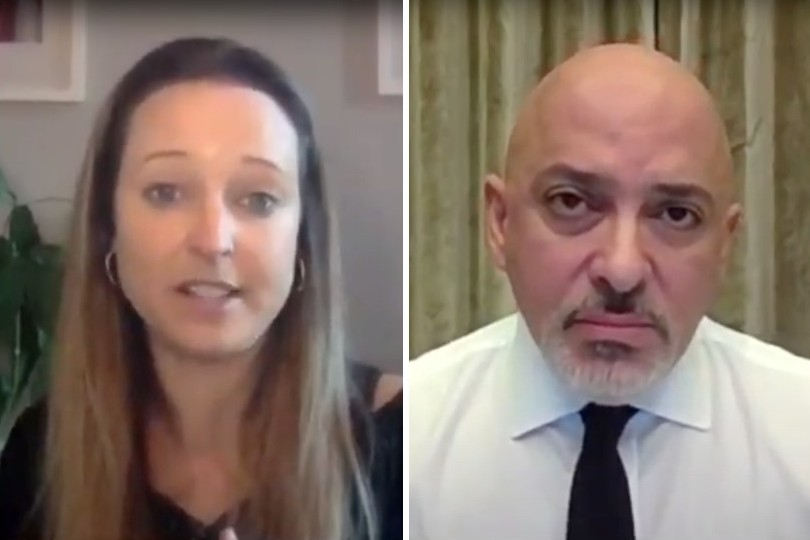 TTG editor Sophie Griffiths put the industry's case forward ahead of Zahawi's ministerial update (Credit: Sky News)