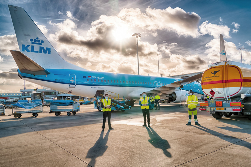 KLM's sustainable fuel flight