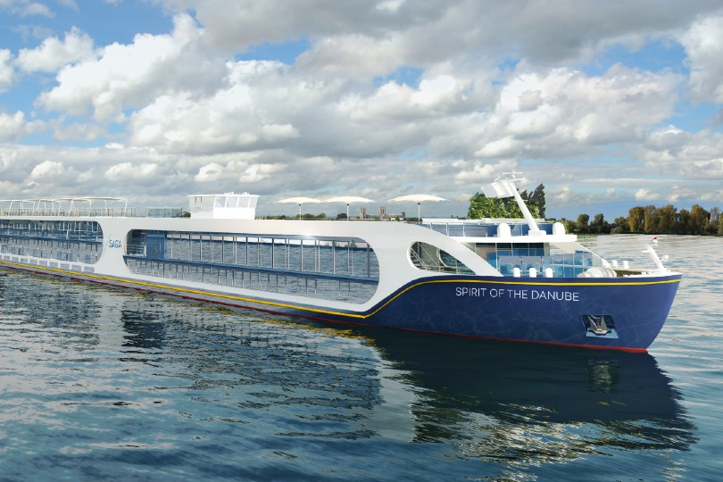 Spirit of the Danube will join Saga's fleet in 2022, sailing its inaugural voyage from Amsterdam