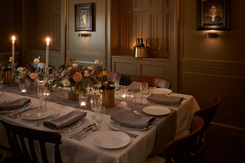 Atmospheric dining in the pantry