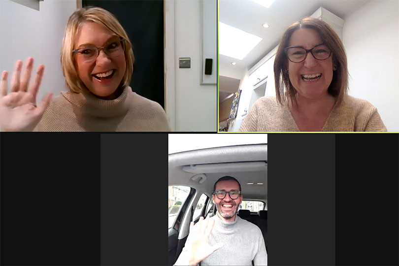 Designer Travel's Amanda Matthews with April Hutchinson and Jonny Peat