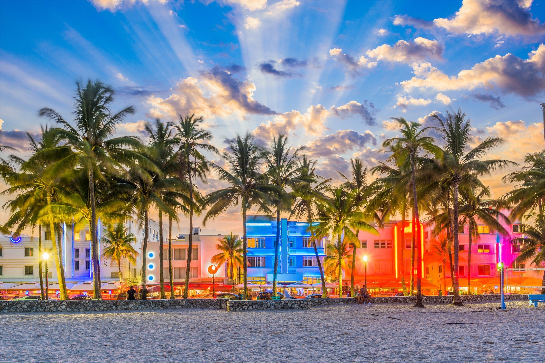 Miami Beach, Florida, where hotels have mostly remained open