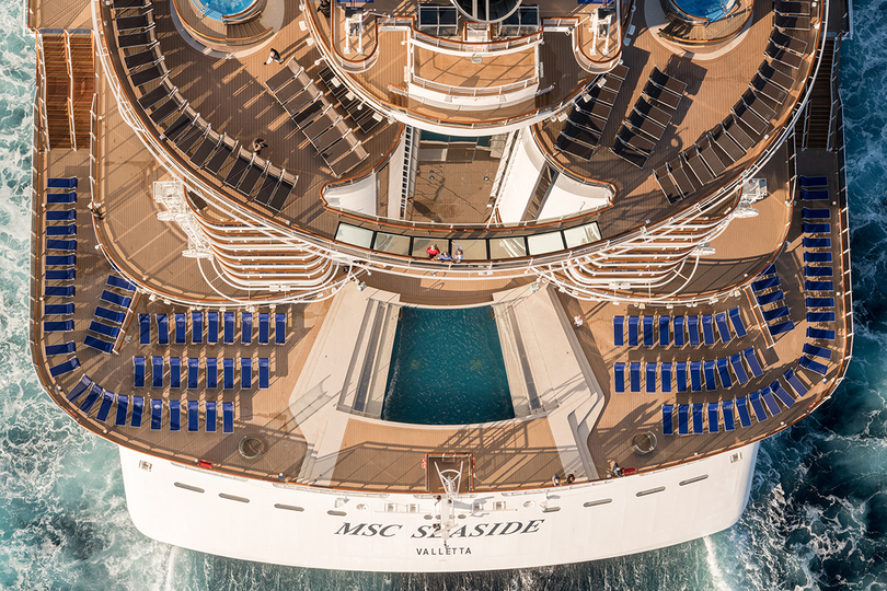 MSC Seaside will be seen in Europe for the first time in four years (Credit: Ivan Sarfatti)
