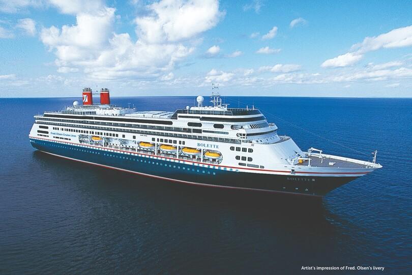 New Fred Olsen ship sets off on maiden voyage