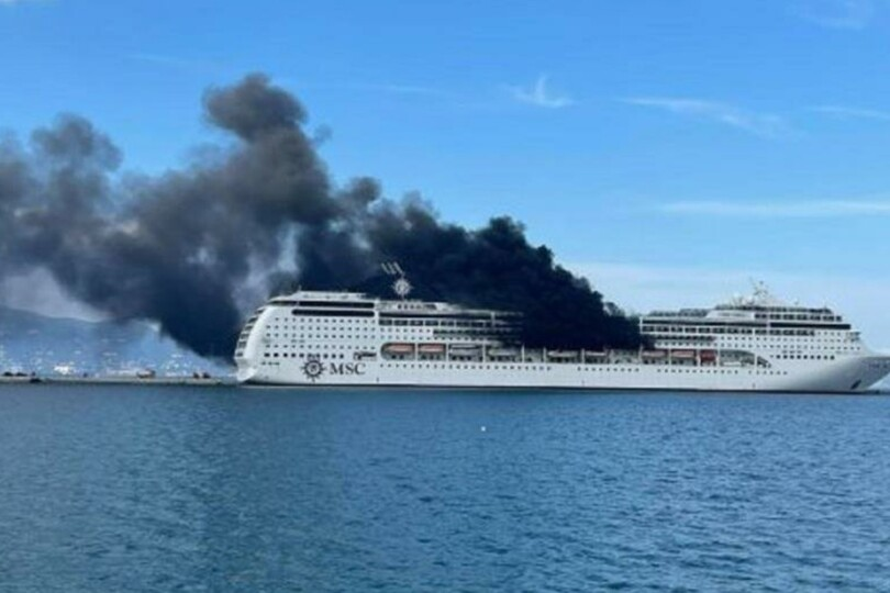 "A ""preliminary assessment"" indicated no damage had been caused to the inside of the ship (Image credit: Cruise Ships Passion)"