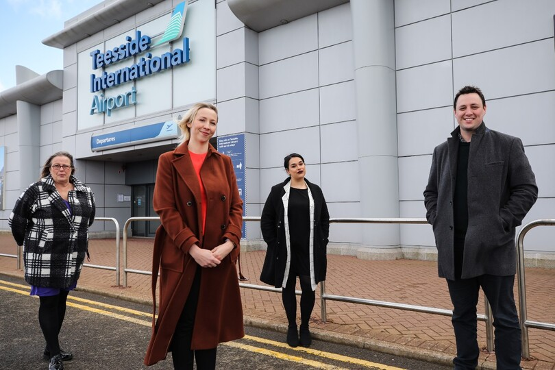 Teesside airport launches charity currency collection