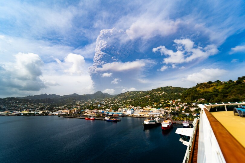 Royal Caribbean International's Serenade of the Seas has been sailing to St Vincent to collect evacuees