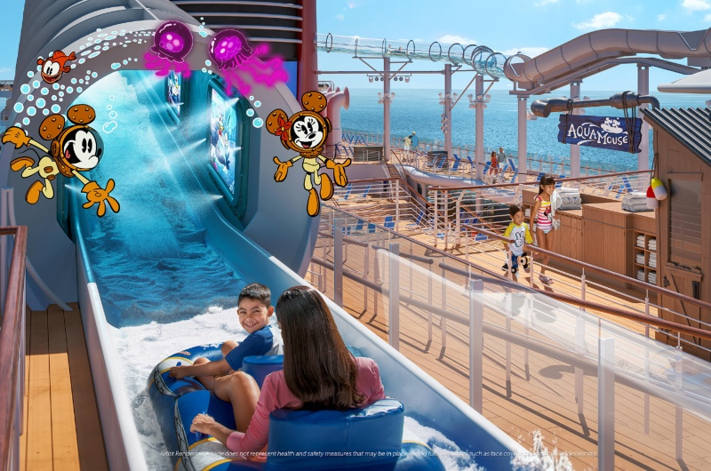 AquaMouse will be the first Disney attraction at sea