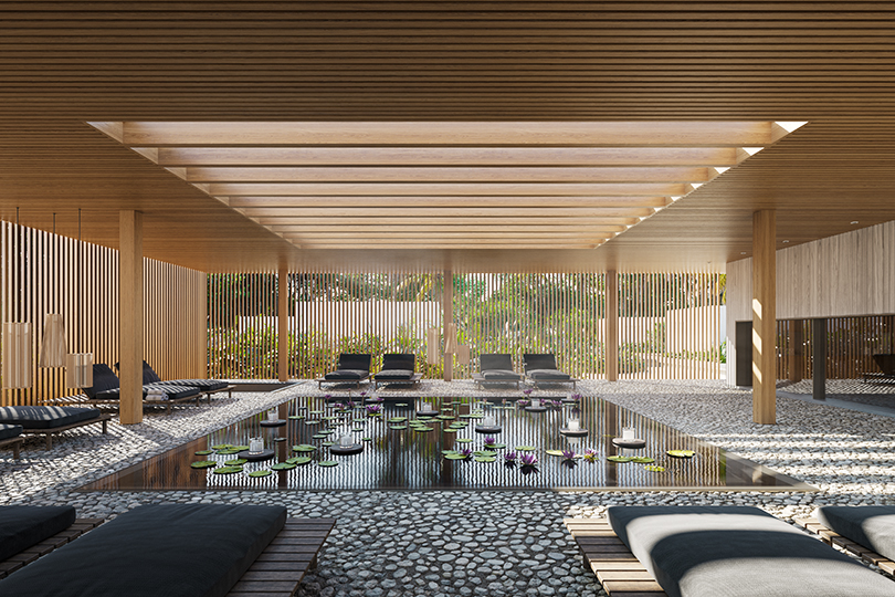 Relaxation lounge at the Flow spa