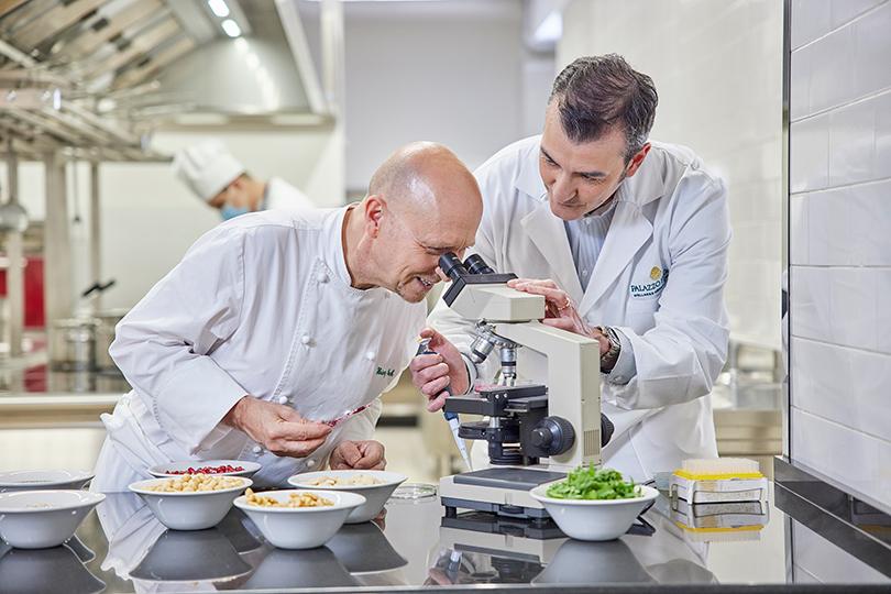 Chef Heinz Beck and Dr David Della Morte at Palazzi Fiuggi (Image: Tyson Sadlo, Herd Represented)