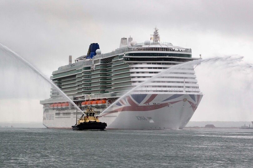Iona arrives in Southampton ahead of its christening last month