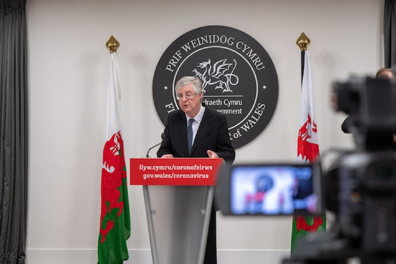 Drakeford confirmed Wales would adopt a traffic light system (Credit: Welsh Government / gov.wales)