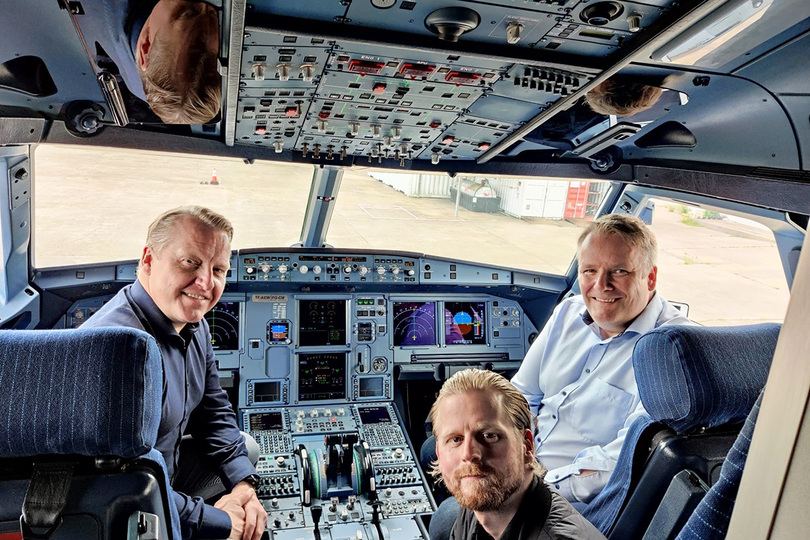 The PLAY management team prepare for the first flight