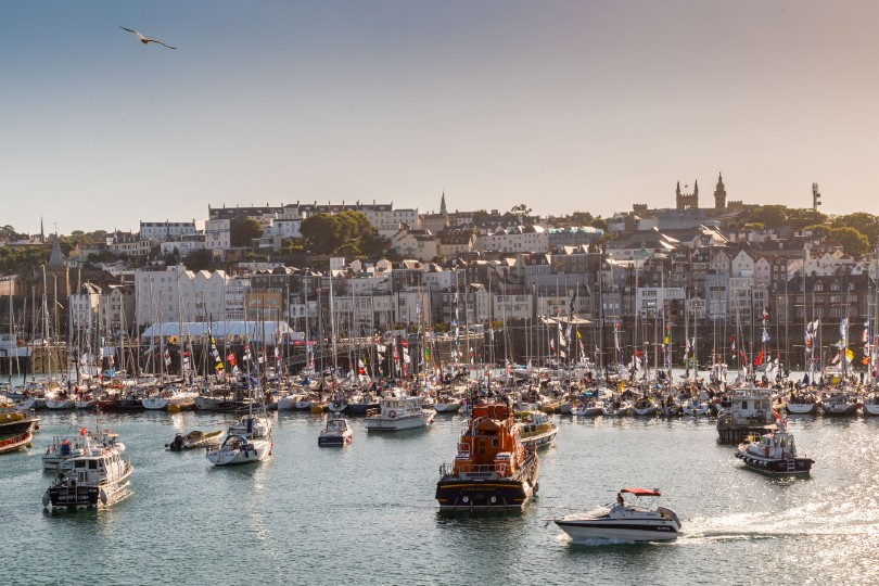 Guernsey (Pictured: St Peter Port) hopes to reopen to UK visitors in July