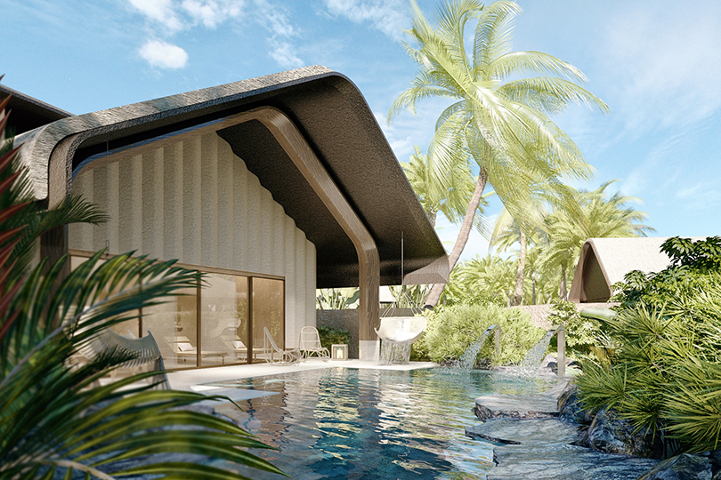 Vitality pool at the new Joali Being island in the Maldives