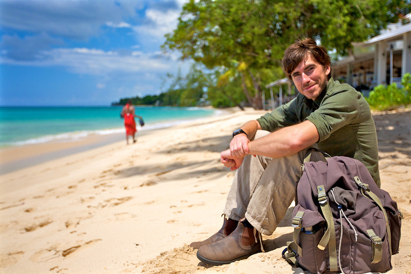 Simon Reeve, pictured in the Caribbean