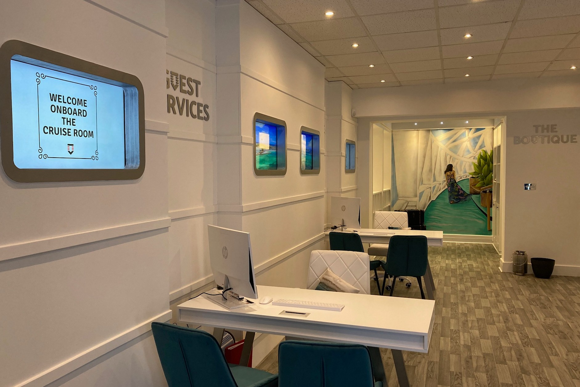 """The Cruise Room has been designed as a """"ship in shop"""" concept to give customers the feeling of being onboard."""