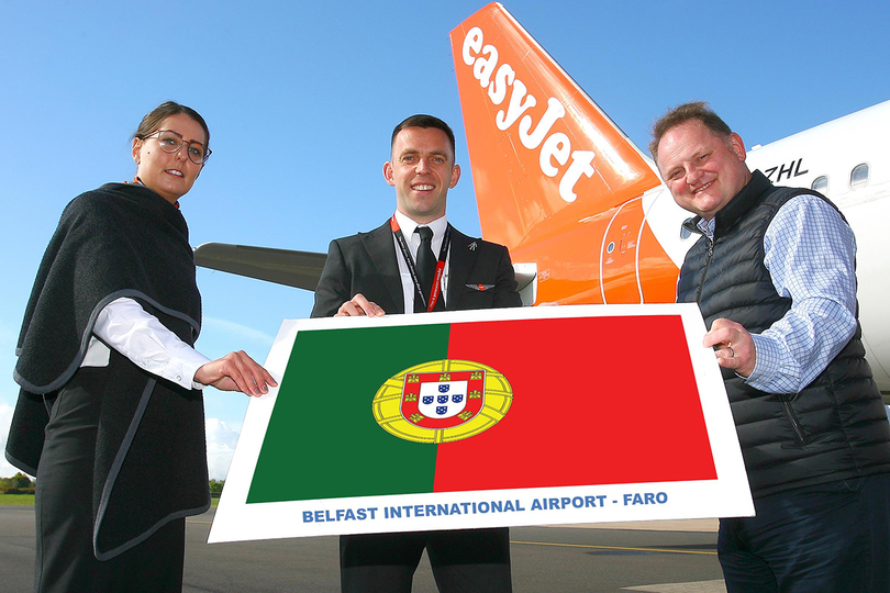 The first Faro flight was sent off in style