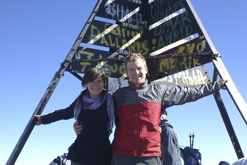 Travellers at Morocco's Mount Toubkal