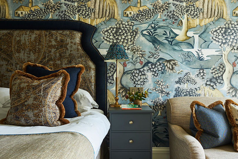 Bold wallpapers are a feature of the suites at Rothay Manor