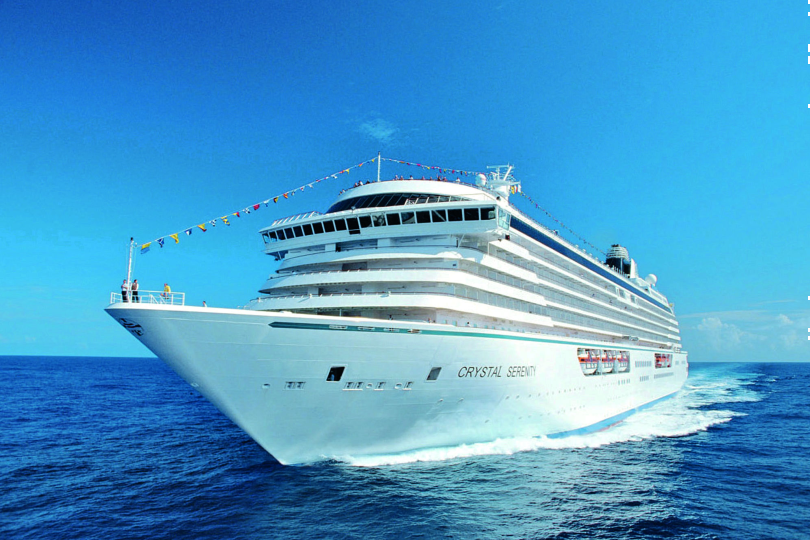 Crystal Serenity set sail from the Port of Nassau on 3 July