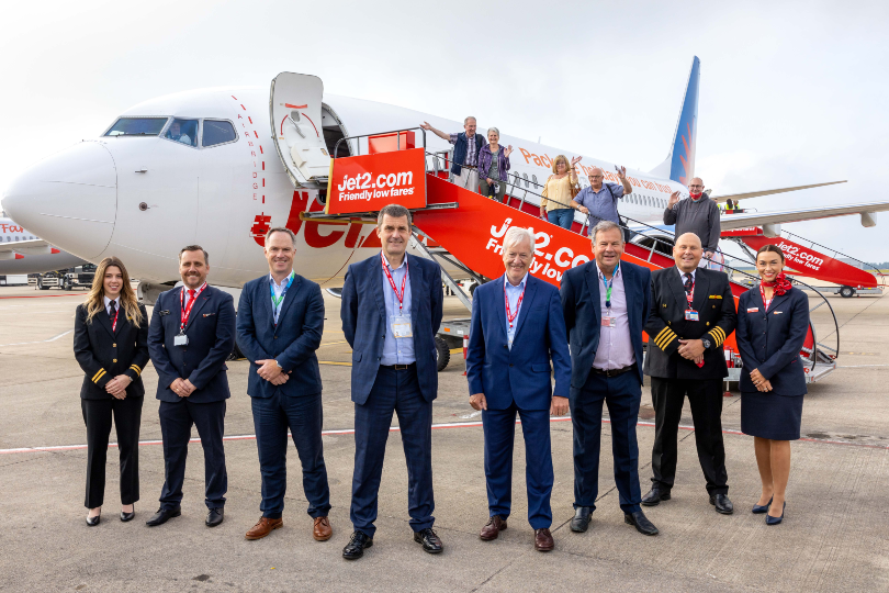 Jet2 launches inaugural flight from Bristol airport