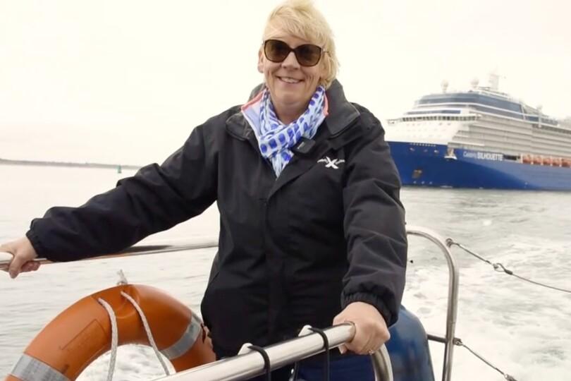 Rzymowska meets Silhouette as it arrived in Southampton last week