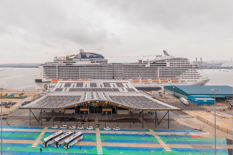 MSC Cruises' MSC Virtuosa was the first ship to welcome passengers at the terminal
