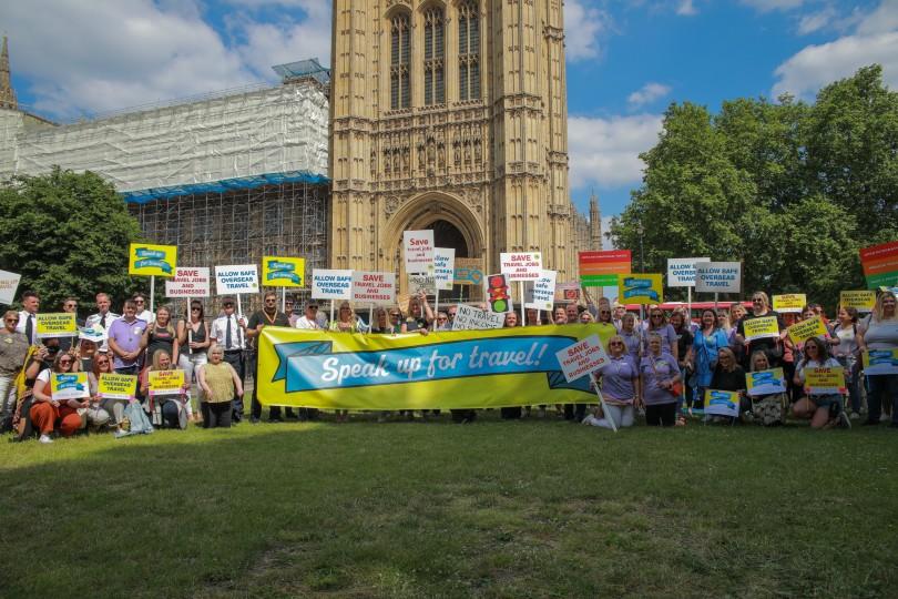 Hundreds descended on Westminster for the lobby effort (Credit: Abta)