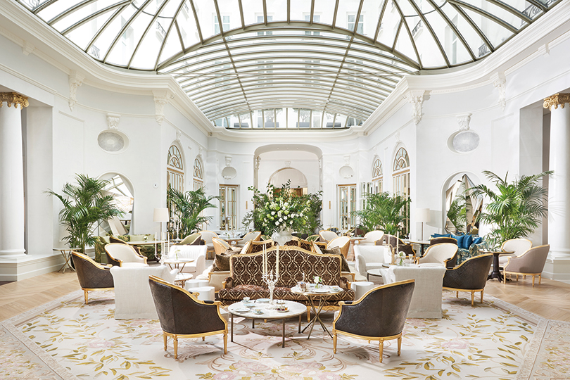 The famous Palm Court has been restored to its old glory