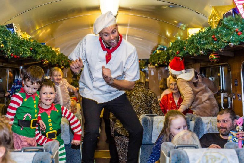 Polar Express trips feature a range of festive entertainment for families