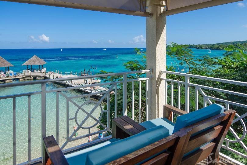 Ocean views at Sandals Ochi Beach Resort located in Ocho Rios, Jamaica, nearby to where Stewart grew up
