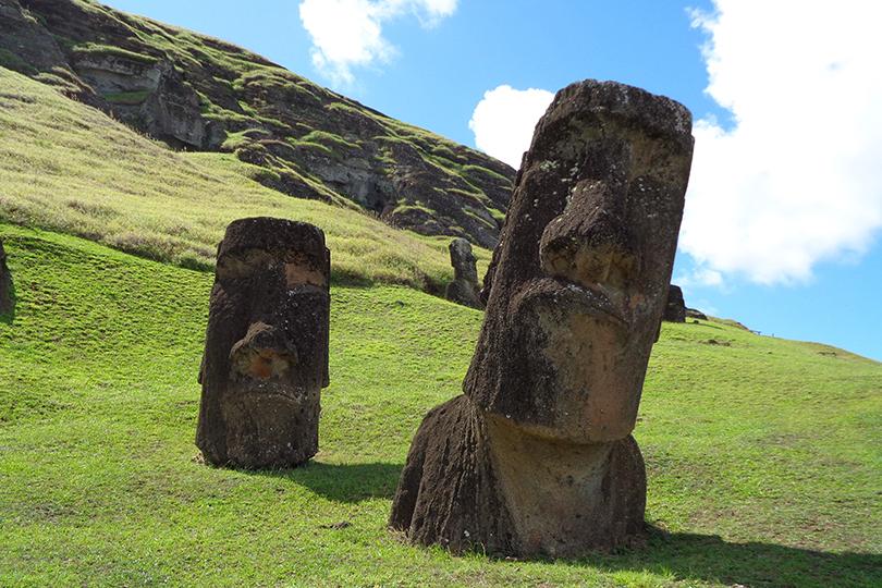 Moai statues on Easter Island, Chile (Image: Stephanie Morcinek, Unsplash)
