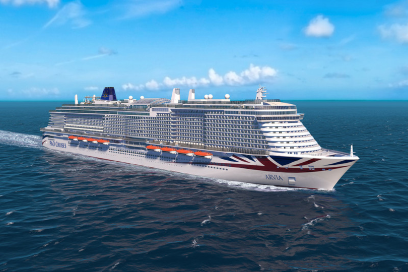Video: Watch the work get under way on P&O's new ship Arvia