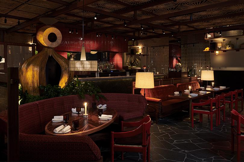 Atmospheric interiors of Decimo, signature restaurant at The Standard