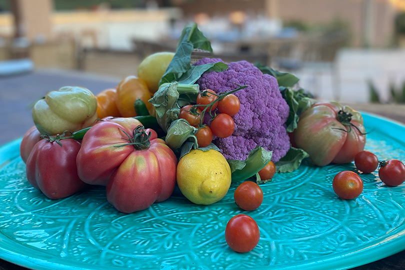 Chef Eyal Shani works with produce from the resort's own farm