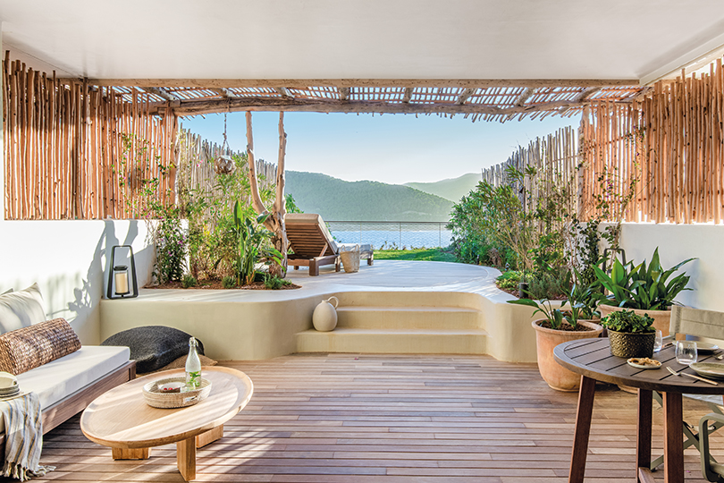 Room with private sundeck at the new Six Senses Ibiza