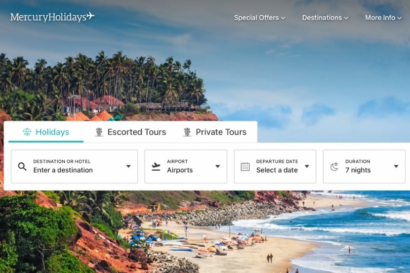 Mercury Holidays teams up with intuitive to speed up search times
