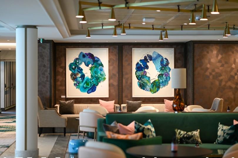 The Living Room onboard Spirit of Adventure (Credit: Saga Cruises)