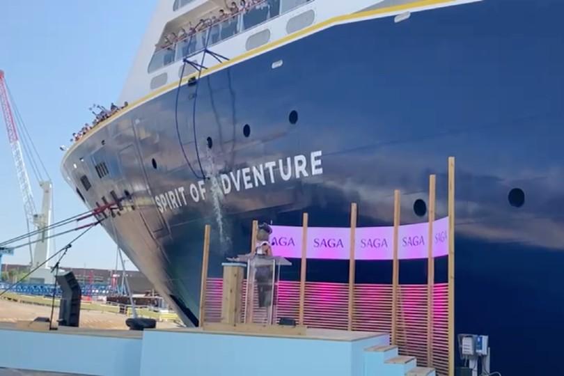 Saga's new ship Spirit of Adventure named in Portsmouth