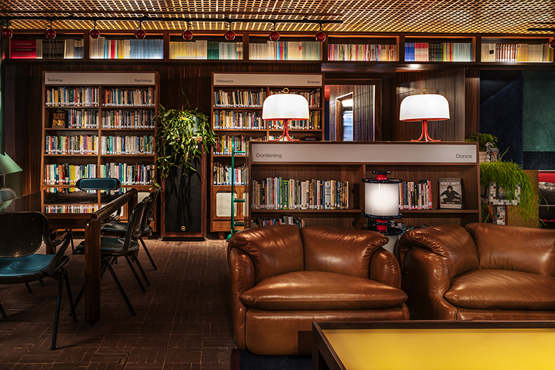 The Library Lounge features endless books and great events