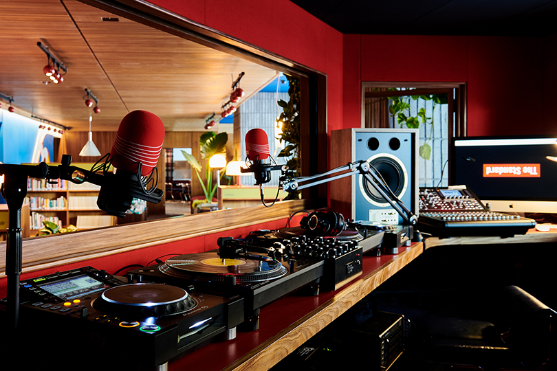 The hotel has its own Sounds Studio and regular DJ sets