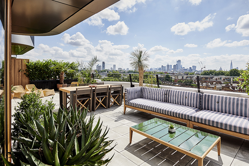 Terrace suite at The Standard with enviable views