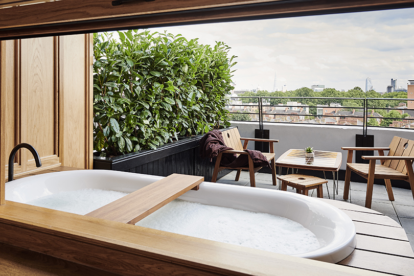 Some suites even include a bathtub on the terrace