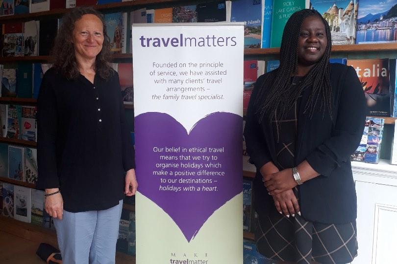 Travel Matters' Karen Simmonds met with local MP Marsha de Cordova