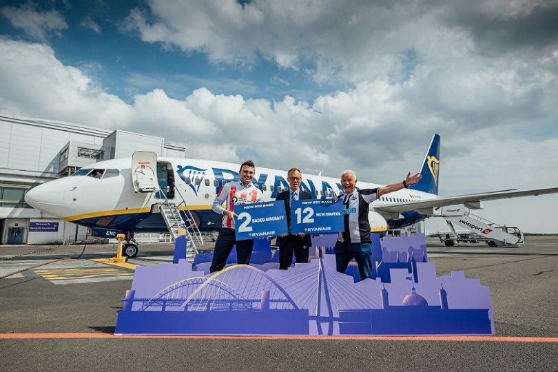 Ryanair to open base at Newcastle for summer 2022