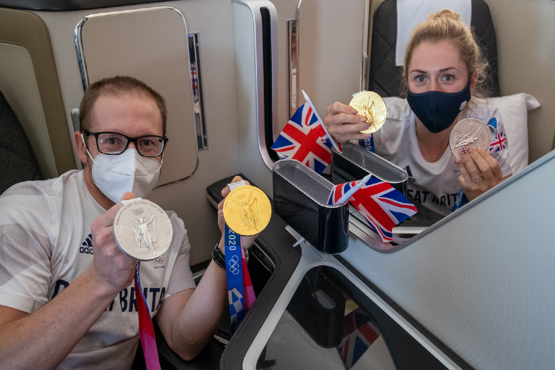 The carrier has been flying Team GB to the UK from Tokyo for the past two weeks